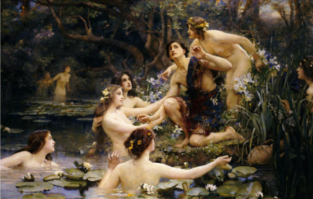 Hylas and the Water Nymphs, by Henrietta Rae
